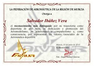Reconocimiento a Salvador Ibáñez Arce
